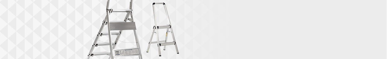 xtend + climb FT ultra-light aluminum and WT stable step series step stools background